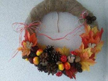 Jesienna ozdoba na drzwi